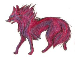 Purple Wolf by Joava
