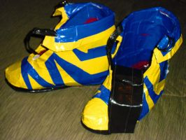 Duct Tape Shoes by earthalchemyst