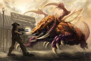 Cowboy and Zerg by feenixfabay