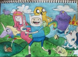 adventure time :D by Naiengele
