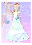 CE: AF Pagent Round 3 Daisy Wedding Gown by shweetcupcake