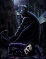 Batman VS The Joker by ReddEra