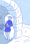 Ice Queen in a Sweater by Yamino