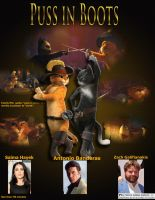 puss in boots movie poster by CrazyFangirl01