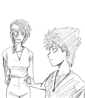hiei and mukuro by ladyXmukuro