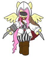 Fluttershy Assassin by ilichu