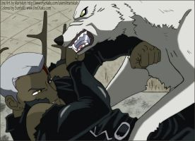 Wolf's Rain: Tsume and Kiba by SunfallE