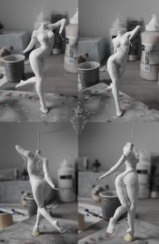 WIP on new fig : Xiong Mao from Freaks Squeele by Atelier-Enaibi
