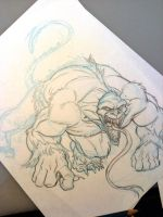 Ape Monster- sketch by tombancroft