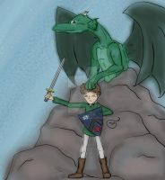 A Boy and His Dragon by Kid-Apocalypse