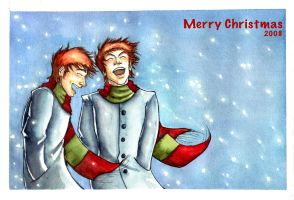 Weasley Twins: Merry Christmas by The-Starhorse