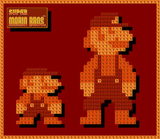 Retro Mario Background by WhiteLionWarrior