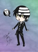 Death the Kid Chibi Nugget by NyxZeta