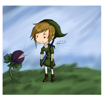 . annoyed Link by dream--drops