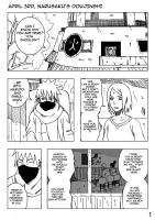 APRIL3RD First part EXAM pg 1 (NaruSaku) by NaruSasuSaku91