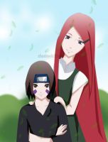 Kushina and Rin by shadowkittyart