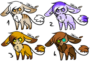 CLOSED - Wire-Tailed Bunnies Adoptables 262 by LeaAdoptables