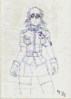Seras Victoria sketch by Itygirl