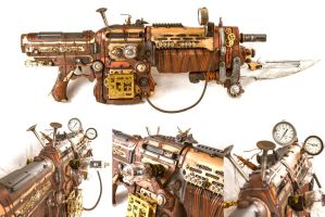 Steampunk Assault Rifle by 3Dpoke