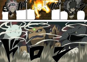 Naruto 633 page!  Team 7 Summons by bangalybashir