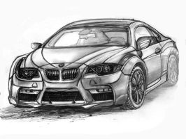 Exterior car Design drawing by artsoni