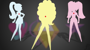 Equestria Girls Dazzleings silhouette 2 wallpaper by Amber-Rosin