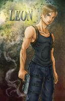 Resident Evil - Leon by shrouded-artist
