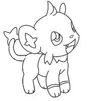 """shinx lineart 1 """"request"""" by michy123"""