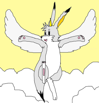 DDRMaster372's Request: Flying Unicorn Louie by DemonLouie