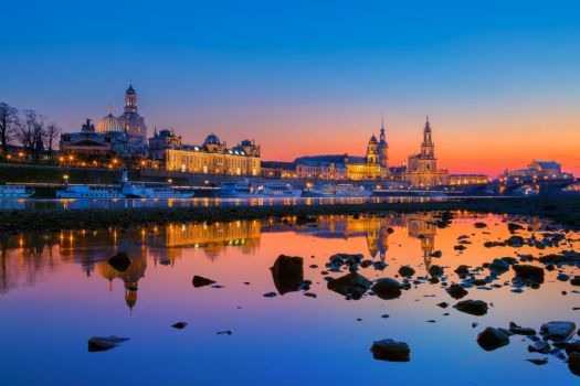 Blue Hour in Dresden by hessbeck-fotografix