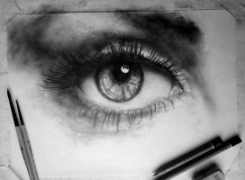 In progress.. Eye (Drawing) [3] by DesignerMF