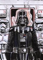 Vader and Crew Sketch Card by shinlyle