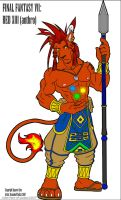 Anthro Red XIII :Color: by Hero-of-justice