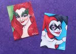 ACEO Harley Quinn and Poison Ivy by blua