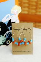 Turquoise Beaded Hoops by BoutiqueVintage72
