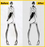 Remove The Background From a Drawing or Lineart by rocishop