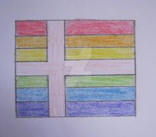 Marriage Equality Flag - Nordic Style by HowlerTheEvilKitten1