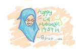 Happy Eid Mubarak everyoneee!!! by fildzahraihan