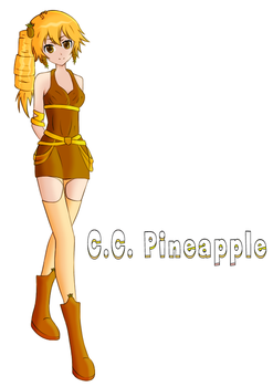 Candy Charm Pineapple (Coloured by myself) by OUTMACED121