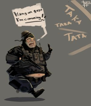 Really fat S.W.A.T guy by atomoso