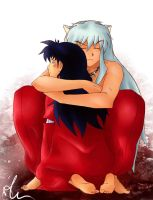 Inuyasha and Kagome by Sango94