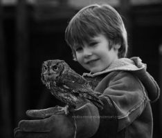 The Owl and his Boy by realta-eireann