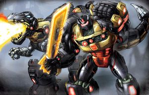 Fall of Cybertron Grimlock by Dan-the-artguy