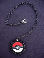 Pokeball Pokemon Deluxe Necklace by Monostache
