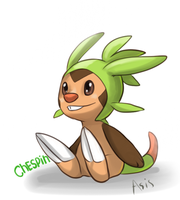 Chespin by DragonAsis