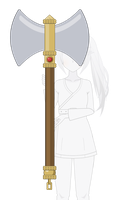 Double-Sided Battle Axe [Kisekae Export] by Idessa