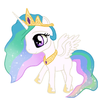 Celestia Chibi by IcyPanther1
