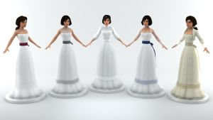 Elizabeth's Wedding Dress (New Models) by Ananina23