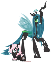 Mommy and Me - Chryssi + Pomf by iPandacakes