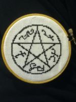 Devil Trap X Stitch by geek-stitch
